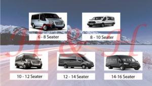 Hull minibus Hire 8 to 16 Seater minibus